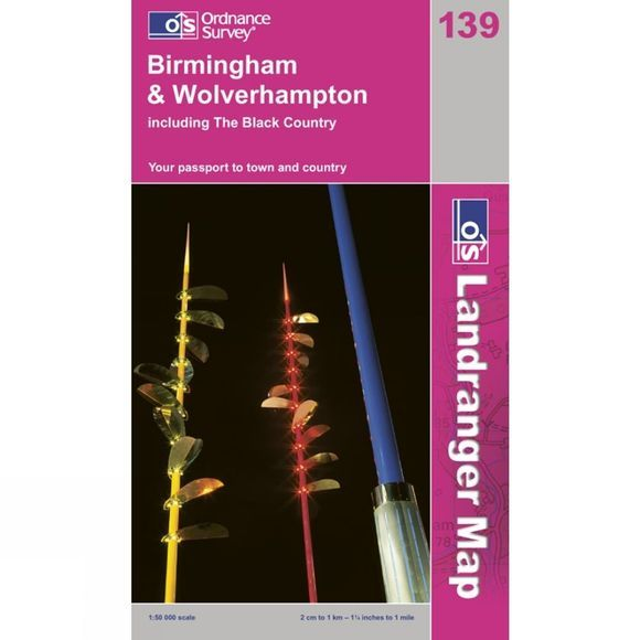 Landranger Map 139 Birmingham and Wolverhampton
