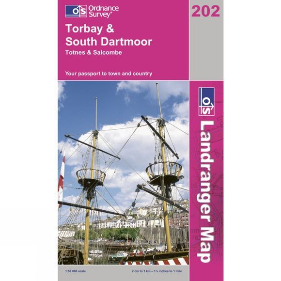Ordnance Survey Landranger Map 202 Torbay and South Dartmoor V13
