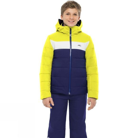 KJUS Boys Downforce Jacket 14+ Into The Blue/Citric Yellow