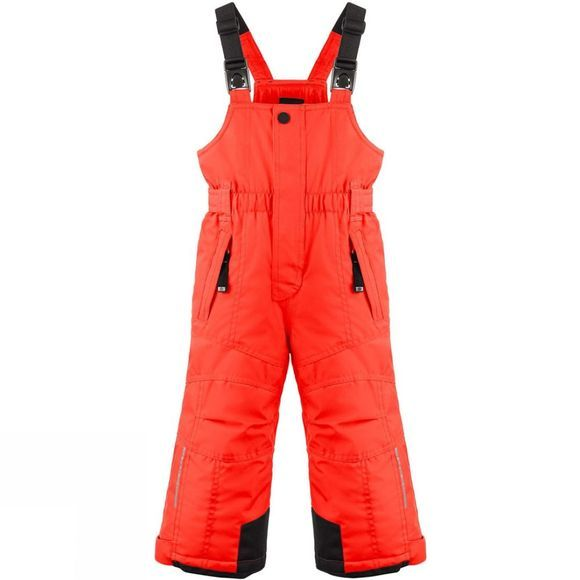 Poivre Blanc Boy's Ski Bib Pants Clementine Orange