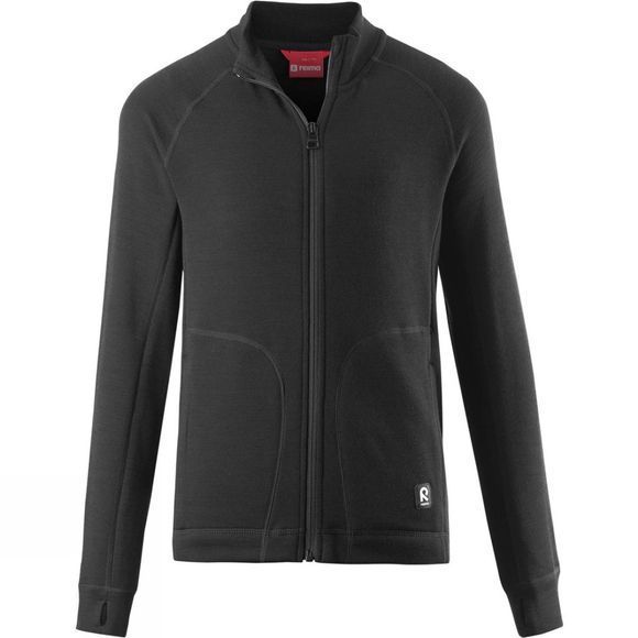 Reima Boys Nordlig Full Zip Sweater 14+ Black