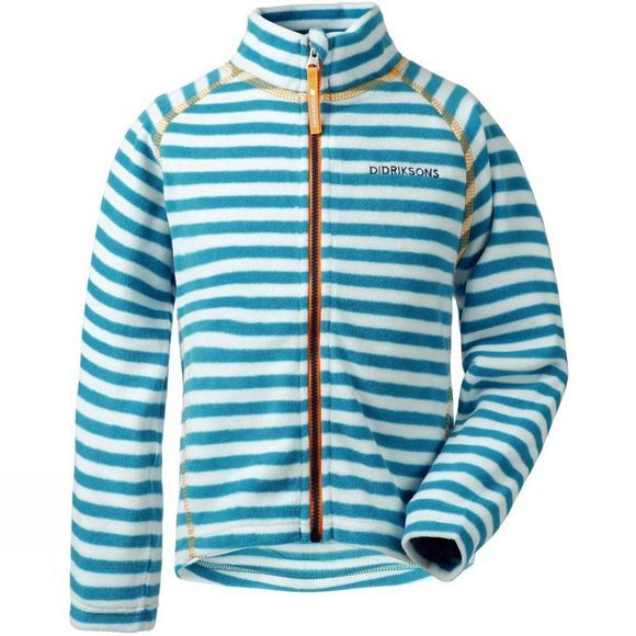 Didriksons Kids Monte Striped Fleece Glacier Blue