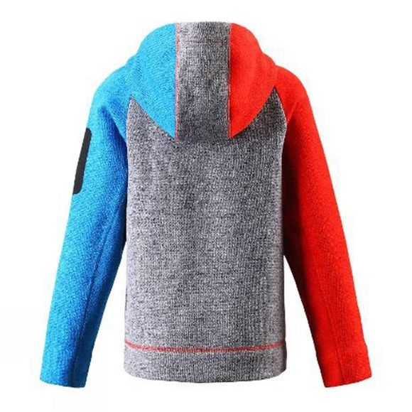 Reima Boy's Lively Fleece Zip Hood  Heather Grey/Blue/Red