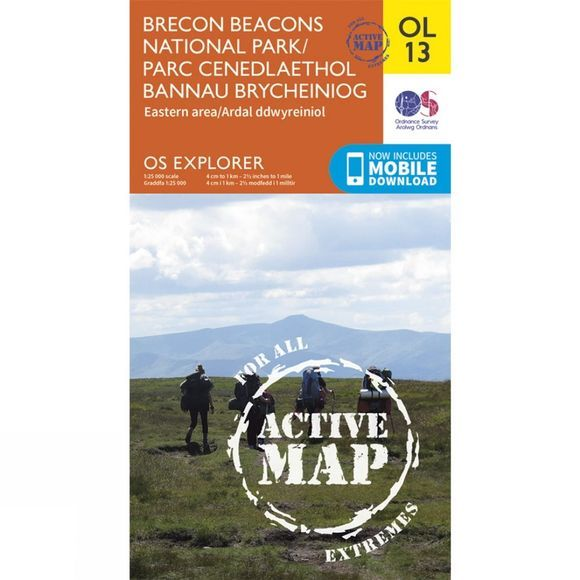 Ordnance Survey Brecon Beacons East V15