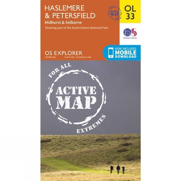 Active Explorer Map OL33 Haslemere and Petersfield