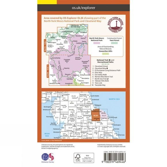 Active Explorer Map OL26 North York Moors - Western Area