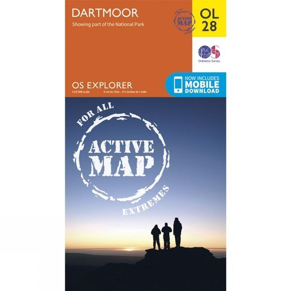 Ordnance Survey Dartmoor V15