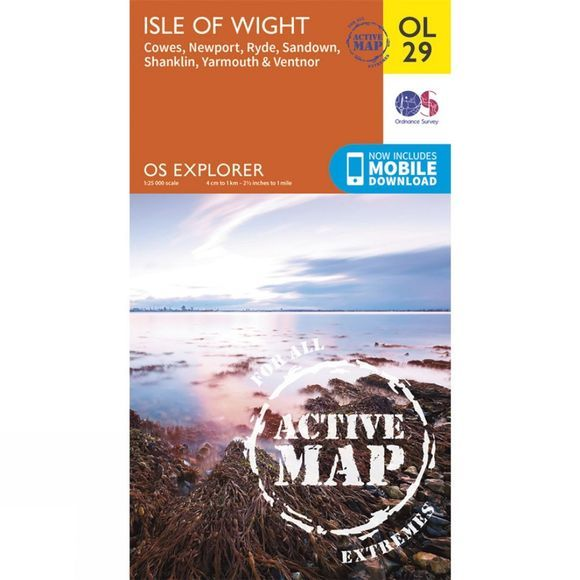 Ordnance Survey Active Explorer Map OL29 Isle of Wight V15