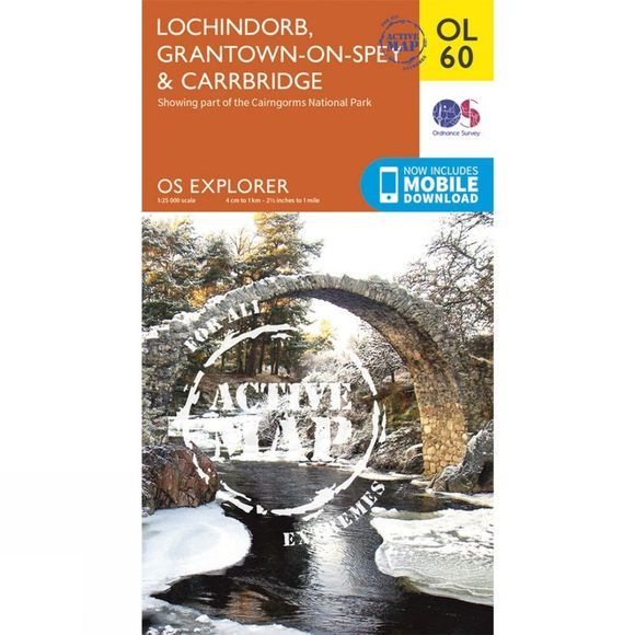 Active Explorer Map OL60 Lochindorb, Grantown-on-Spey and Carrbridge