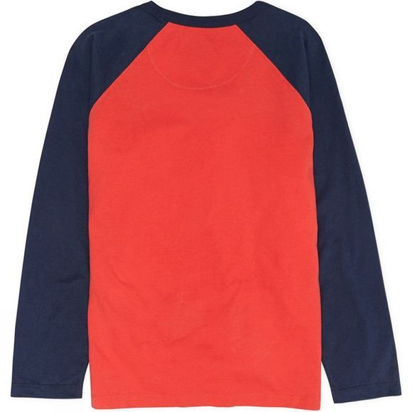 St Berts Kids Slope Skier T-Shirt Red/ Navy