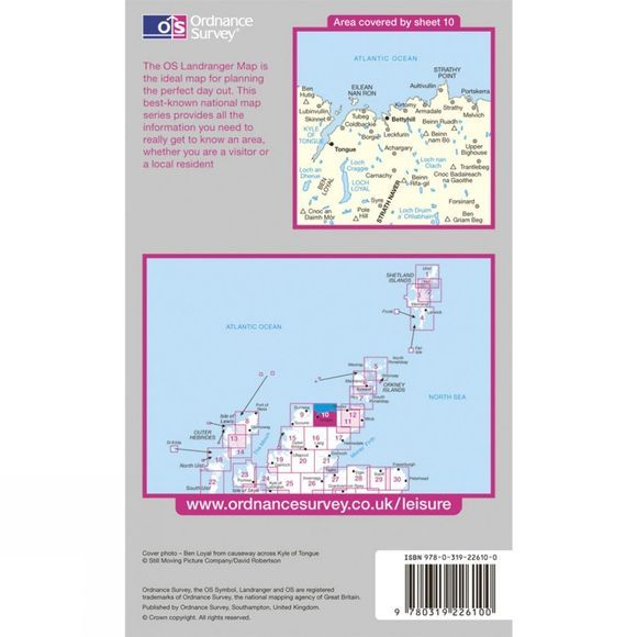 Ordnance Survey Active Landranger Map 10 Strath Naver .
