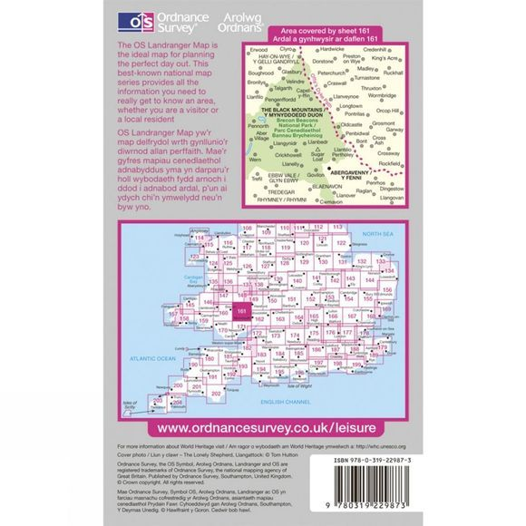 Active Landranger Map 161 The Black Mountains