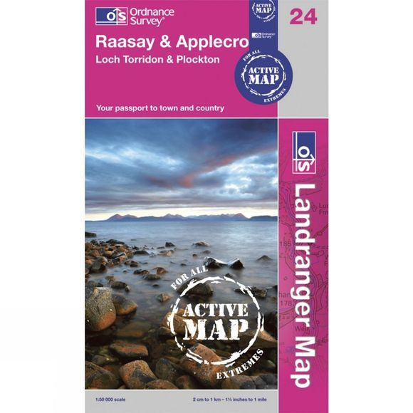 Ordnance Survey Active Landranger Map 24 Raasay and Applecross .