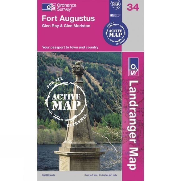 Ordnance Survey Active Landranger Map 34 Fort Augustus .