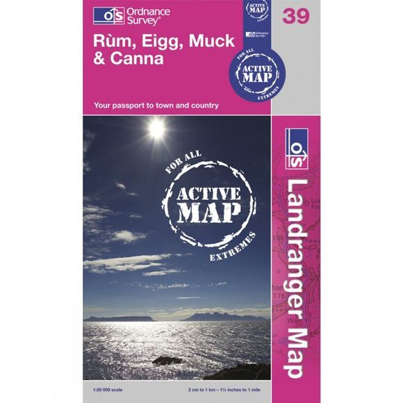 Ordnance Survey Active Landranger Map 39 Rum, Eigg, Muck and Canna .