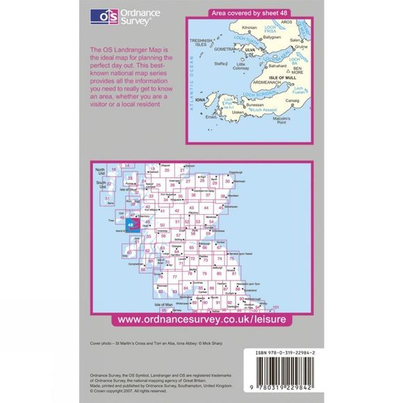 Ordnance Survey Active Landranger Map 48 Iona and West Mull .