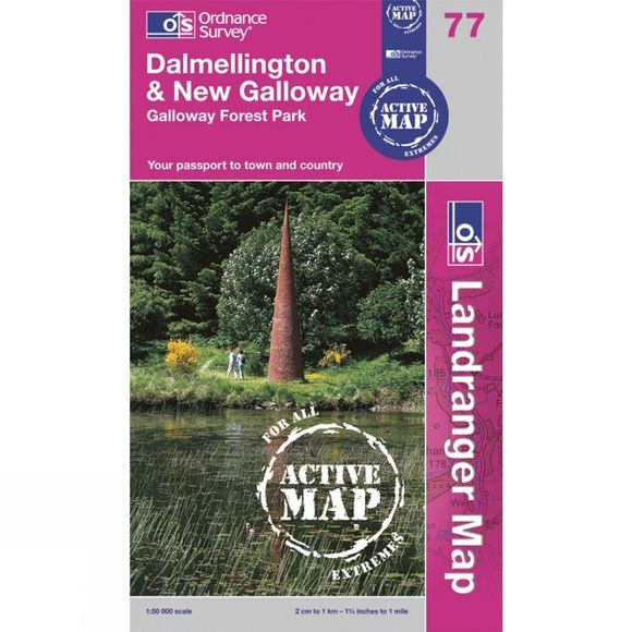 Ordnance Survey Active Landranger Map 77 Dalmellington and New Galloway .