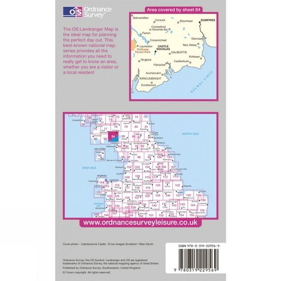 Ordnance Survey Active Landranger Map 84 Dumfries and Castle Douglas .