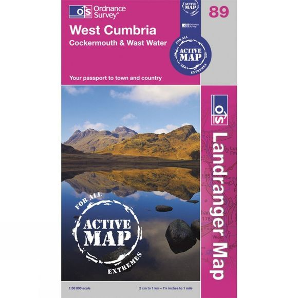 Ordnance Survey Active Landranger Map 89 West Cumbria .