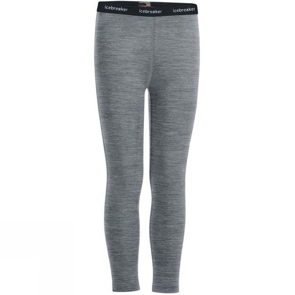 Icebreaker Boys 200 Oasis Leggings Age 14+ Gritstone Heather