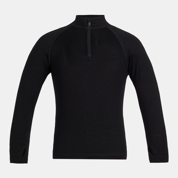 Icebreaker Kids 260 Tech Long Sleeve Half Zip Baselayer Black