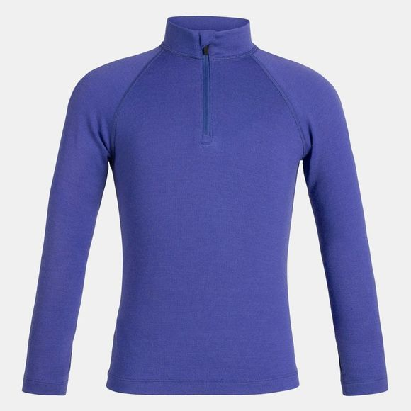 Icebreaker Kids 260 Tech Long Sleeve Half Zip Baselayer Mystic
