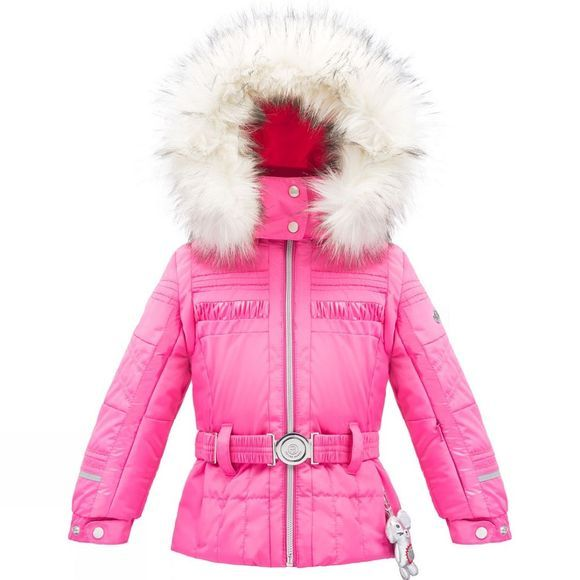 Poivre Blanc Kids Belted Mini Jacket Candy Pink