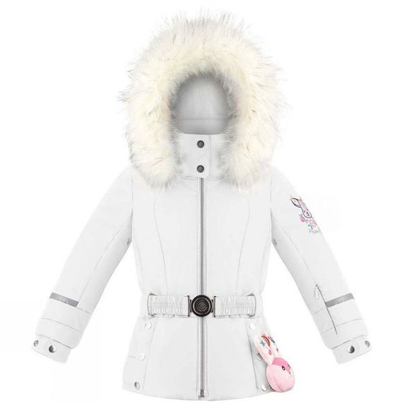 Poivre Blanc Girls Mini Belted Ski Jacket White
