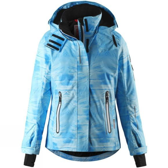 Reima Girls Frost Print Jacket Icy Blue Mountain Print
