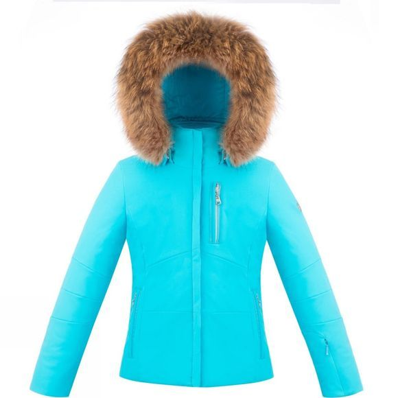 Poivre Blanc Girls Stretch Ski Jacket Azure Blue