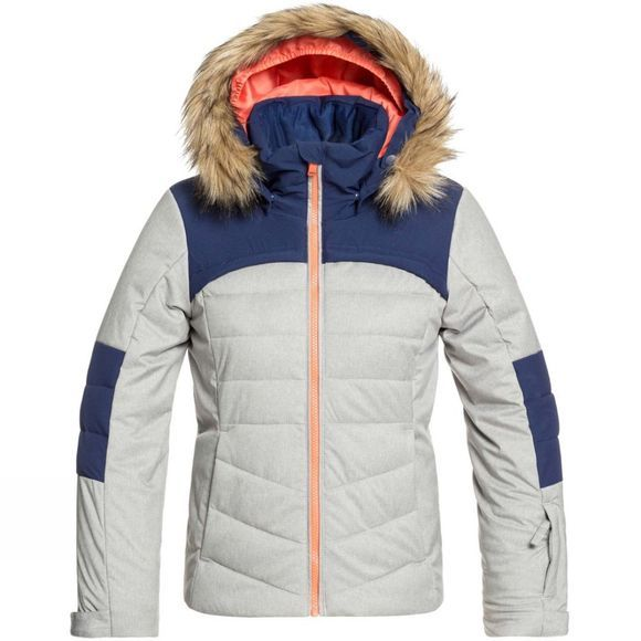 Roxy Girls Bamba Snow Jacket Age 14+  Heather Grey