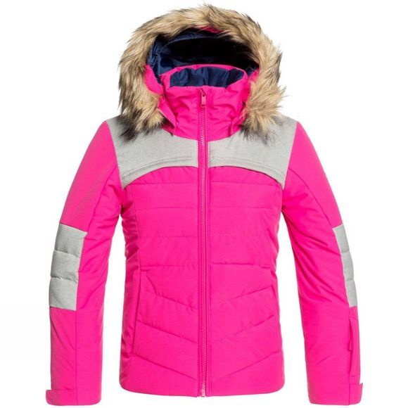 Roxy Girls Bamba Snow Jacket Age 14+  Beetroot Pink