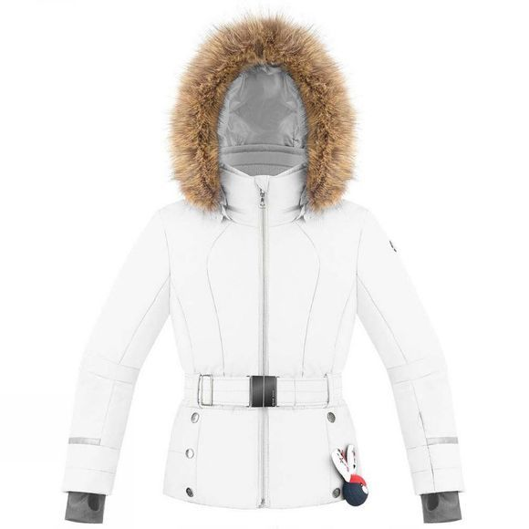 Poivre Blanc Girls Belted Ski Jacket 14+ White