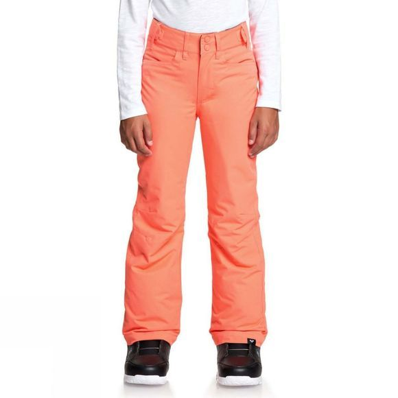 Roxy Girls Backyard Snow Pants Age 14+ Living Coral