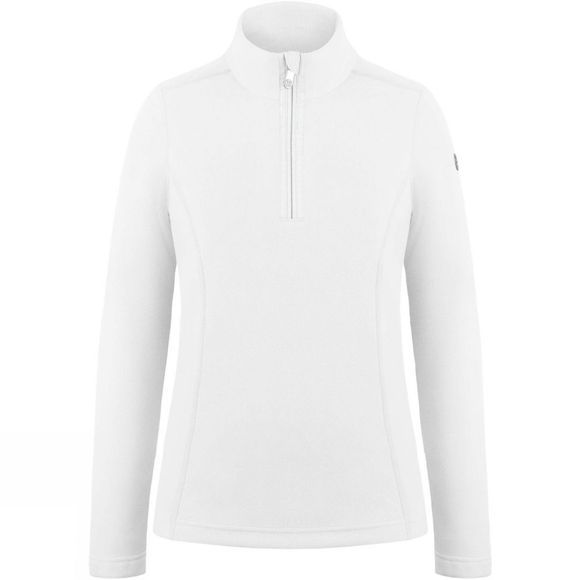 Poivre Blanc Girls 1/4 Zip Fleece White