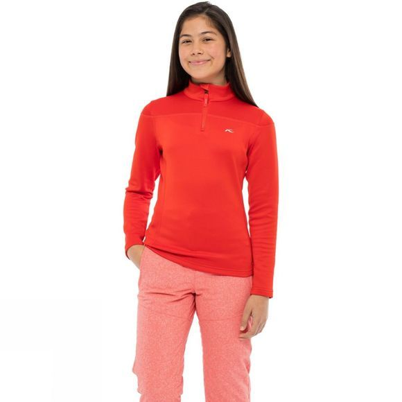 KJUS Girl's Jade Half Zip 14+ Fiery Red