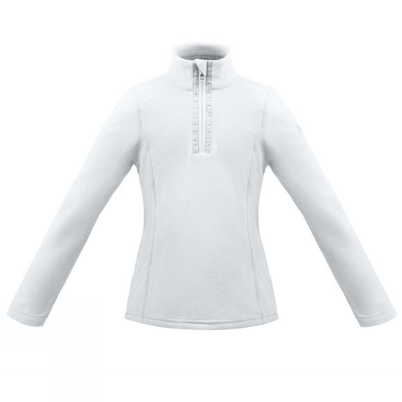 Poivre Blanc Girls Half Zip Fleece White