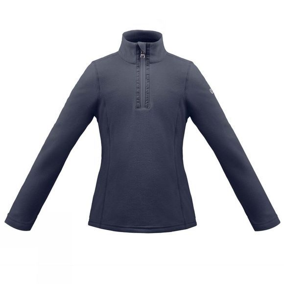 Poivre Blanc Girls Half Zip Fleece Gothic Blue