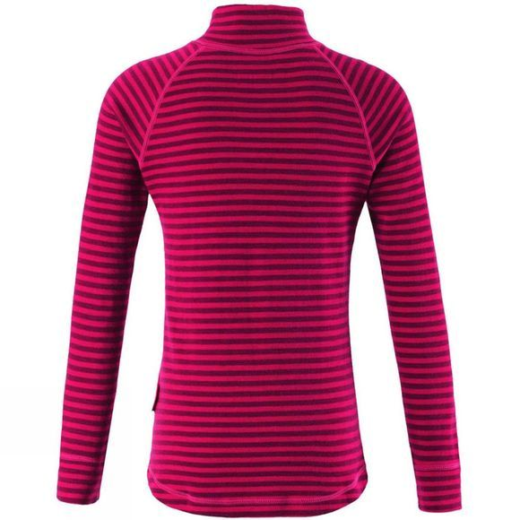 Reima Girls Travast Stripe Fleece Dark Berry