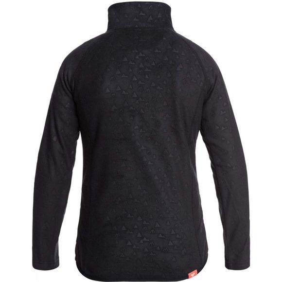 Roxy Girls Cascade Fleece Age 14+  True Black Rising Peak Embossed