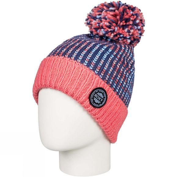 Roxy Girls Snowflurry Beanie Crown Blue