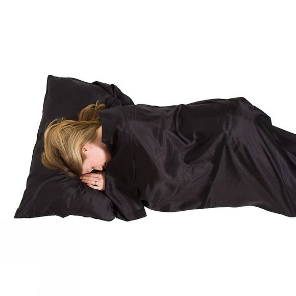 Lifeventure Ultimate Silk Sleeping Bag Liner Rectangular Black