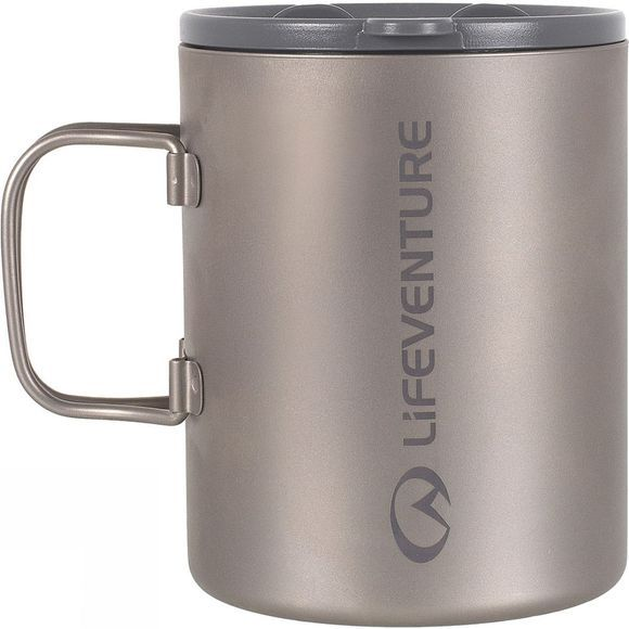 Lifeventure Titanium Insulated Mug Mid Grey
