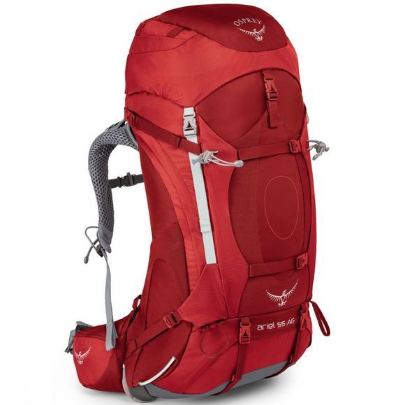 Osprey Womens Ariel AG 55 Rucksack Picante Red