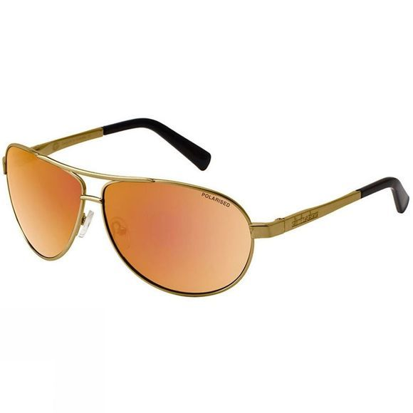 Dirty Dog Doffer Sunglasses Gold/Brown Gold Mirror Pol