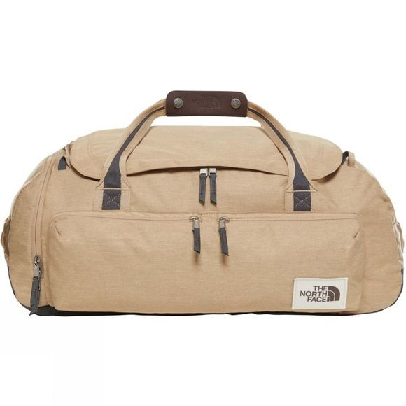 The North Face Berkeley Duffel Bag Kelp Tan Dark Heather/Asphalt Grey Light Heather