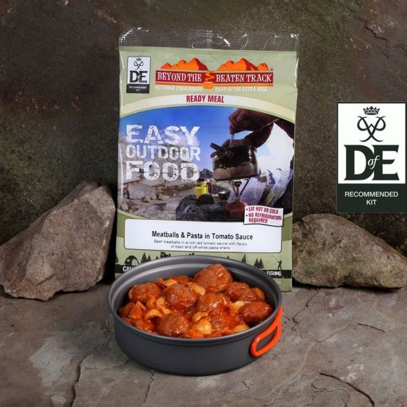 Beyond The Beaten Track Ready Meal Meatballs & Pasta in Tomato Sauce No Colour