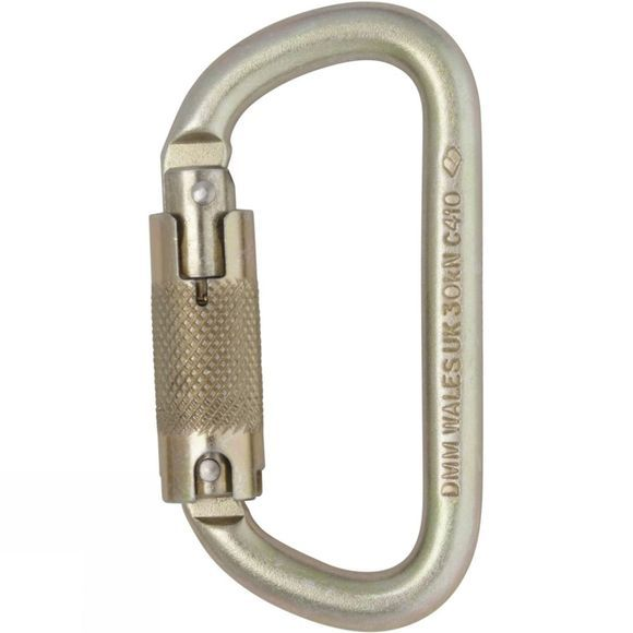 DMM 10mm Equal D Steel Locksafe Karabiner Steel