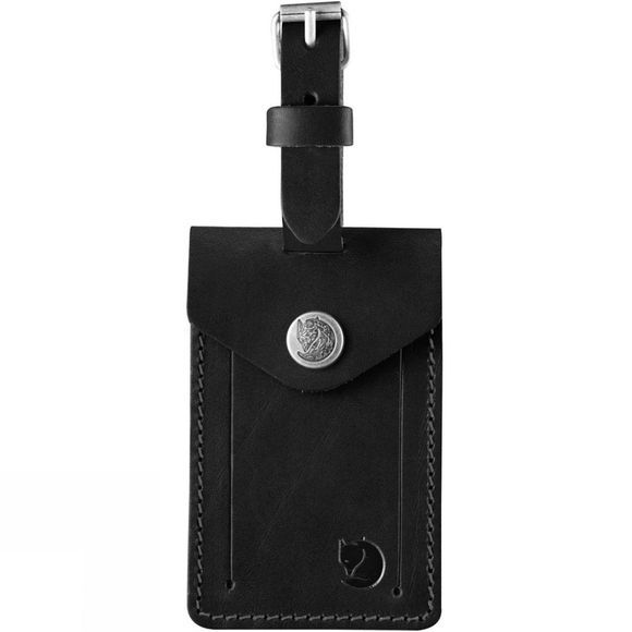 Fjallraven Leather Luggage Tag Black