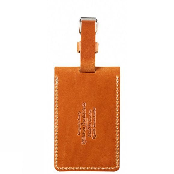Fjallraven Leather Luggage Tag Leather Cognac